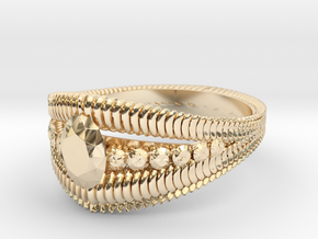 Oval cut ring(Japan 10,USA 5.5,Britain K)  in 14k Gold Plated Brass