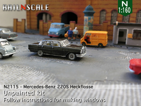 Mercedes-Benz 220S (N 1:160) in Smooth Fine Detail Plastic