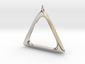 Triangle Pendant in Platinum