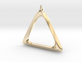 Triangle Pendant in 14k Gold Plated Brass