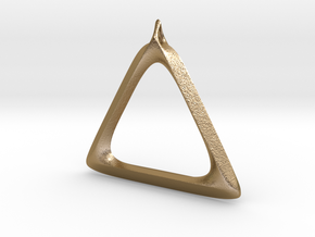 Triangle Pendant in Polished Gold Steel
