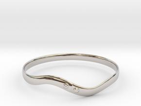 Torsion ring(Japan 10,USA 5.5,Britain K)  in Rhodium Plated Brass