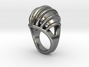 Ring New Way 16 - Italian Size 16 in Fine Detail Polished Silver