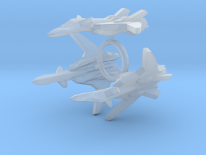 3x YF-19 Alpha One 1/1000 in Smooth Fine Detail Plastic