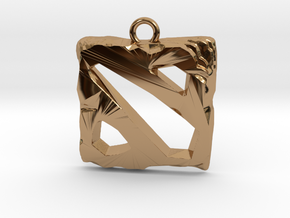 DOTA 2 Emblem in Polished Brass