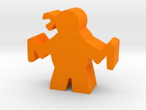 Game Piece, Mutant Ninja, Nunchucks in Orange Processed Versatile Plastic