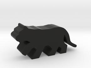 Game Piece, Big Cat, running in Black Natural Versatile Plastic
