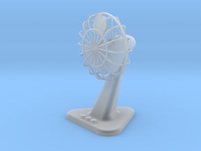 Fan with Stand 41mm hight ( Scale model ) in Smooth Fine Detail Plastic
