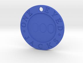 One Eyed Jacks Pendant in Blue Processed Versatile Plastic
