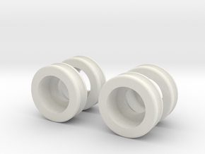 Mini-Z Moto Racer Ball Bearing Sleeves in White Strong & Flexible