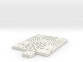 SciFi Tile 14 - 4-way grating in White Natural Versatile Plastic