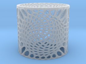 Voronoi capped cylinder lampshade in Smooth Fine Detail Plastic