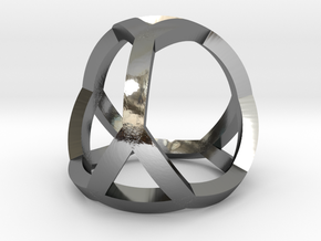 0405 Spherical Truncated Tetrahedron #001 in Fine Detail Polished Silver
