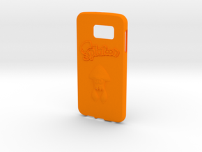 Splatoon Galaxy S6 Case in Orange Strong & Flexible Polished
