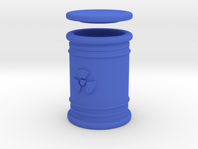 Radioactive Waste Barrel in Blue Processed Versatile Plastic