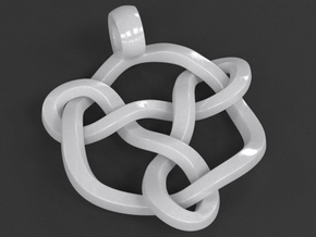 Celtic Knot Pendant 01 in White Processed Versatile Plastic