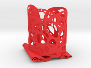 Functional Art Pencil Holder in Red Processed Versatile Plastic