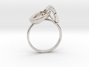 Infinite Ring in Rhodium Plated Brass