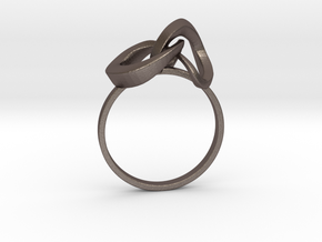 Infinite Ring in Polished Bronzed Silver Steel