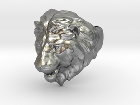 Lion Ring in Raw Silver: 9.5 / 60.25