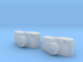 Camera Cuff Links in Smooth Fine Detail Plastic