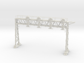 HO Scale PRR W-signal LATTICE 4 Track in White Natural Versatile Plastic