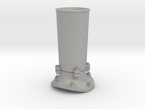 Steam locomotive smoke stack - S scale in Raw Aluminum