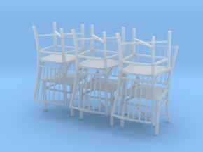1:48 French Country Chair Set in Smooth Fine Detail Plastic