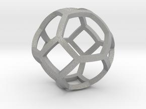0409 Spherical Truncated Octahedron #001 in Aluminum