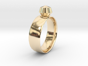 Gem Ring in 14K Yellow Gold