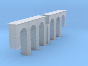 Arched Supports Z Scale in Smooth Fine Detail Plastic