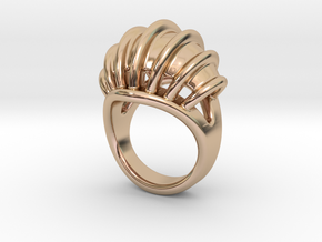 Ring New Way 28 - Italian Size 28 in 14k Rose Gold Plated Brass