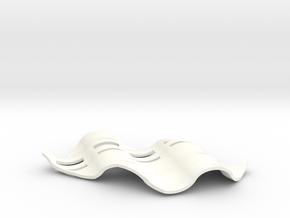 Soap Dish Zwei in White Processed Versatile Plastic