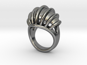Ring New Way 30 - Italian Size 30 in Fine Detail Polished Silver