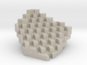 Diagram of Mountain Dwellings in Copenhagen, by BI in Natural Sandstone