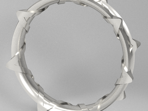 Twisted Star Bangle in White Natural Versatile Plastic
