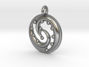 Celtic Flow Pendant in Raw Silver