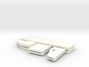 1/16 Challenger 2 Chobham Skirt Armour Upgrade in White Processed Versatile Plastic