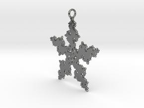 Julia Flake Pendant in Fine Detail Polished Silver