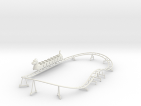 Wisdom Dragon Wagon kiddie coaster track and train in White Natural Versatile Plastic
