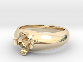 6mm Cushion Size 7 in 14K Yellow Gold