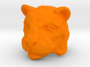 Tiger Ring Size 7 in Orange Processed Versatile Plastic