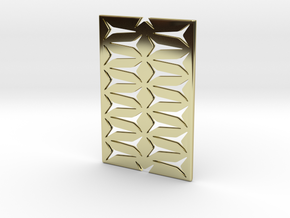 Youniversal Cardholder,Fine Structured, Accessoir in 18k Gold Plated Brass