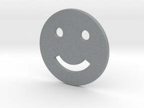 Smily Face in Polished Metallic Plastic
