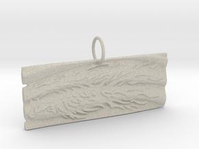 New Beginnings II Keychain/Pendant in Natural Sandstone