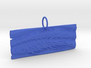 New Beginnings II Keychain/Pendant in Blue Processed Versatile Plastic