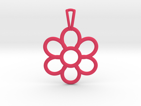 Share Your Smile With Me Sunflower Pendant (Small) in Pink Strong & Flexible Polished
