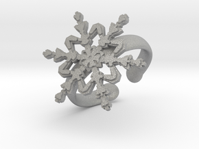 Snowflake Ring 2 d=16.5mm Adjustable h35d165a in Aluminum