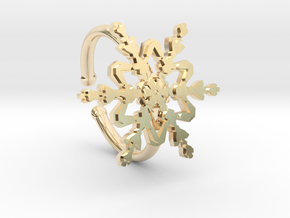 Snowflake Ring 2 d=16.5mm Adjustable h21d165a in 14k Gold Plated Brass