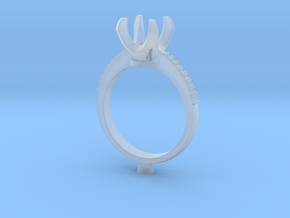 CC5 - Engagement Ring 3D Printed Wax. in Smooth Fine Detail Plastic